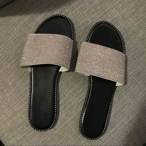Charlotte Russe studded rhinestone sandals